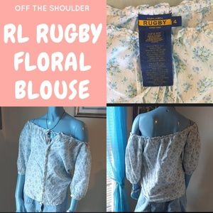 FINAL RL Rugby Floral Off The Shoulder Blouse